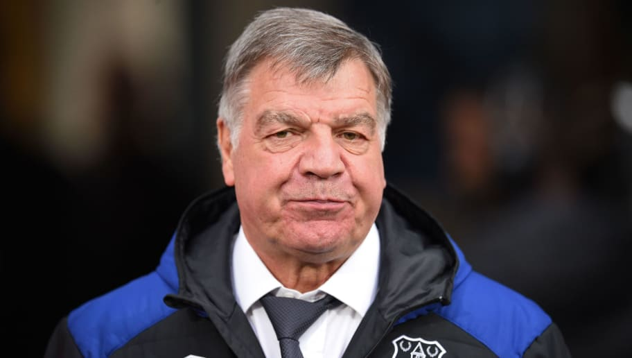 Everton's English manager Sam Allardyce arrives for the English Premier League football match between Huddersfield Town and Everton at the John Smith's stadium in Huddersfield, northern England on April 28, 2018. (Photo by Oli SCARFF / AFP) / RESTRICTED TO EDITORIAL USE. No use with unauthorized audio, video, data, fixture lists, club/league logos or 'live' services. Online in-match use limited to 75 images, no video emulation. No use in betting, games or single club/league/player publications. /         (Photo credit should read OLI SCARFF/AFP/Getty Images)