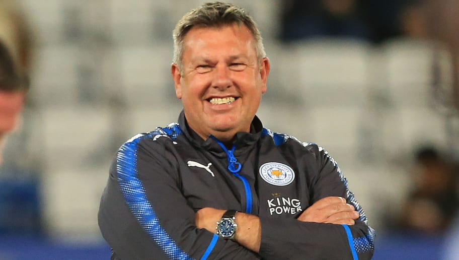 Leicester City's English manager Craig Shakespeare watches his players warm up ahead of the English Premier League football match between Leicester City and West Bromwich Albion at King Power Stadium in Leicester, central England on Octopber 16, 2017. / AFP PHOTO / Lindsey PARNABY / RESTRICTED TO EDITORIAL USE. No use with unauthorized audio, video, data, fixture lists, club/league logos or 'live' services. Online in-match use limited to 75 images, no video emulation. No use in betting, games or single club/league/player publications.  /         (Photo credit should read LINDSEY PARNABY/AFP/Getty Images)