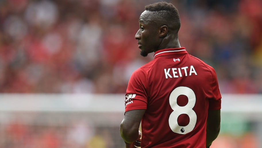 Liverpool s Guinean midfielder Naby Keita makes his Premier League debut  during the English Premier League football 9e86e11a9