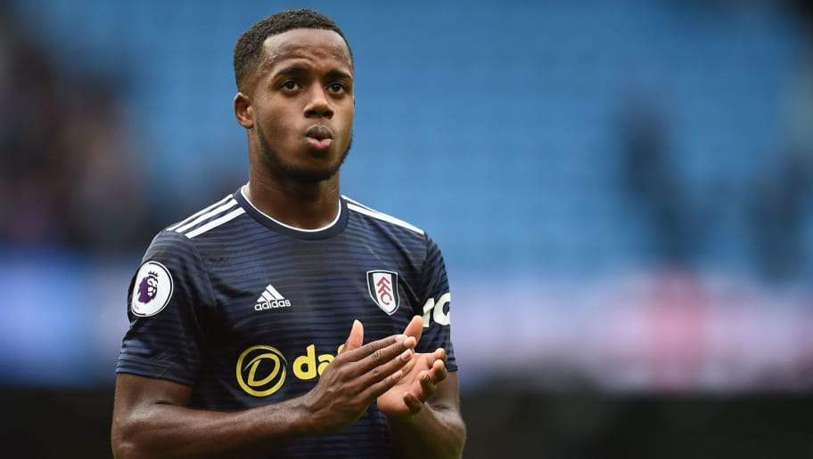Fulham's English defender Ryan Sessegnon applauds fans after losing the English Premier League football match between Manchester City and Fulham at the Etihad Stadium in Manchester, north west England, on September 15, 2018. (Photo by Oli SCARFF / AFP) / RESTRICTED TO EDITORIAL USE. No use with unauthorized audio, video, data, fixture lists, club/league logos or 'live' services. Online in-match use limited to 120 images. An additional 40 images may be used in extra time. No video emulation. Social media in-match use limited to 120 images. An additional 40 images may be used in extra time. No use in betting publications, games or single club/league/player publications. /         (Photo credit should read OLI SCARFF/AFP/Getty Images)