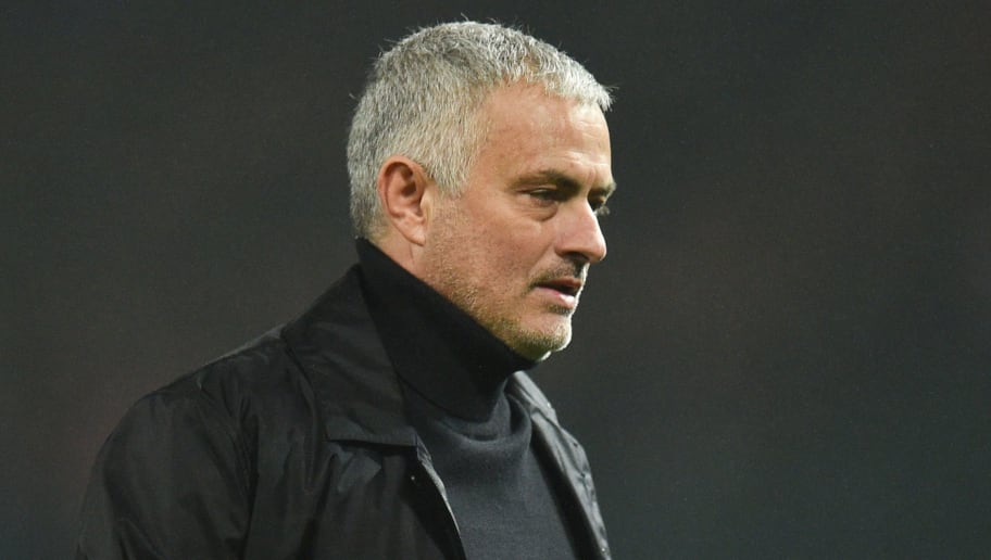 Manchester United's Portuguese manager Jose Mourinho leaves at the end of the English Premier League football match between Manchester United and Arsenal at Old Trafford in Manchester, north west England, on December 5, 2018. (Photo by Oli SCARFF / AFP) / RESTRICTED TO EDITORIAL USE. No use with unauthorized audio, video, data, fixture lists, club/league logos or 'live' services. Online in-match use limited to 120 images. An additional 40 images may be used in extra time. No video emulation. Social media in-match use limited to 120 images. An additional 40 images may be used in extra time. No use in betting publications, games or single club/league/player publications. /         (Photo credit should read OLI SCARFF/AFP/Getty Images)