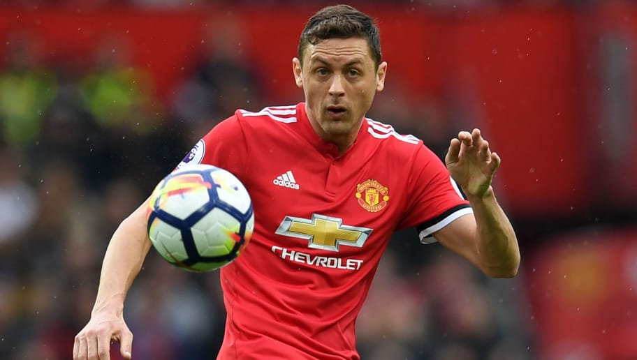 Manchester United's Serbian midfielder Nemanja Matic controls the ball during the English Premier League football match between Manchester United and West Bomwich Albion at Old Trafford in Manchester, north west England, on April 15, 2018. / AFP PHOTO / Paul ELLIS / RESTRICTED TO EDITORIAL USE. No use with unauthorized audio, video, data, fixture lists, club/league logos or 'live' services. Online in-match use limited to 75 images, no video emulation. No use in betting, games or single club/league/player publications.  /         (Photo credit should read PAUL ELLIS/AFP/Getty Images)
