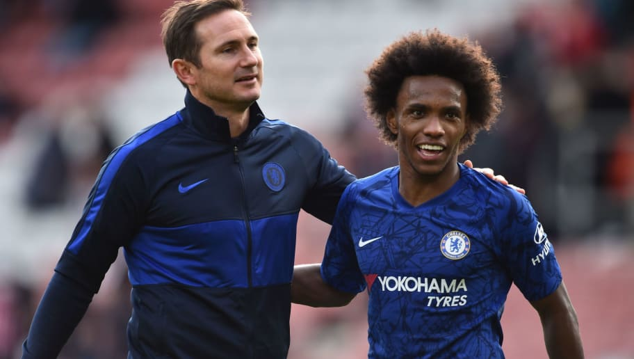 Willian Admits That Playing for Frank Lampard at Chelsea is 'A Bit Weird'