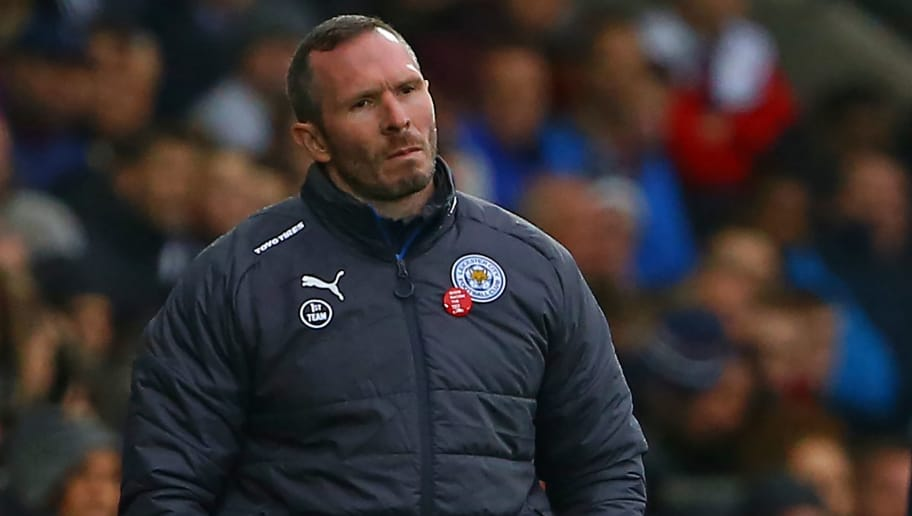 Leicester City's caretaker manager Michael Appleton watches from the touchline during the English Premier League football match between Swansea City and Leicester City at The Liberty Stadium in Swansea, south Wales on October 21, 2017. / AFP PHOTO / Geoff CADDICK / RESTRICTED TO EDITORIAL USE. No use with unauthorized audio, video, data, fixture lists, club/league logos or 'live' services. Online in-match use limited to 75 images, no video emulation. No use in betting, games or single club/league/player publications.  /         (Photo credit should read GEOFF CADDICK/AFP/Getty Images)