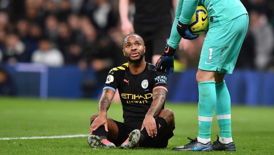 ผลการค้นหารูปภาพสำหรับ Raheem Sterling: Man City forward out 'for weeks' with hamstring injury