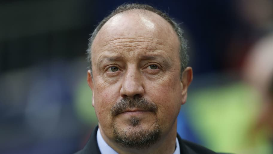Newcastle United's Spanish manager Rafael Benitez looks on before the English Premier League football match between Tottenham Hotspur and Newcastle United at Wembley Stadium in London, on May 9, 2018. (Photo by Ian KINGTON / AFP) / RESTRICTED TO EDITORIAL USE. No use with unauthorized audio, video, data, fixture lists, club/league logos or 'live' services. Online in-match use limited to 75 images, no video emulation. No use in betting, games or single club/league/player publications. /         (Photo credit should read IAN KINGTON/AFP/Getty Images)