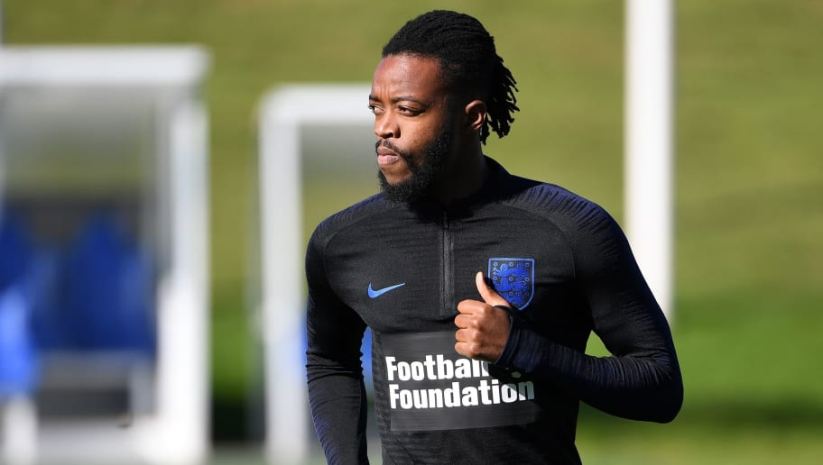 England's midfielder Nathaniel Chalobah attends an open training session at St George's Park in Burton-on-Trent, central England on October 9, 2018 ahead of their UEFA Nations League match against Croatia on October 12. (Photo by Paul ELLIS / AFP) / NOT FOR MARKETING OR ADVERTISING USE / RESTRICTED TO EDITORIAL USE        (Photo credit should read PAUL ELLIS/AFP/Getty Images)