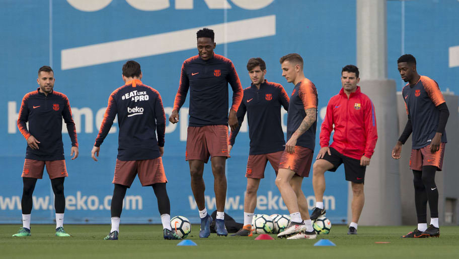 Barcelona s players take part in a training session at the Barcelona Joan  Gamper sports centre in 1eed77f8ab22a