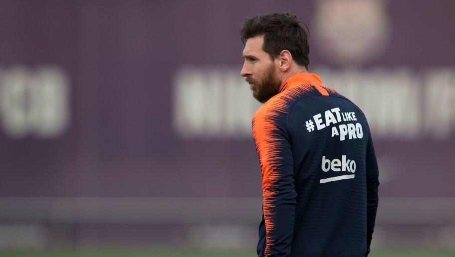 Barcelona's Argentinian forward Lionel Messi arrives for a training session on the eve of the Spanish league football match FC Barcelona vs Real Madrid CF at the FC Barcelona Joan Gamper sports center in Sant Joan Despi on May 5, 2018. (Photo by Josep LAGO / AFP)        (Photo credit should read JOSEP LAGO/AFP/Getty Images)