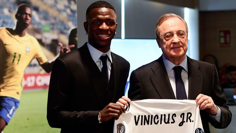 brand new b5158 86769 Real Madrid President Florentino Perez Lauds Vinicius and ...