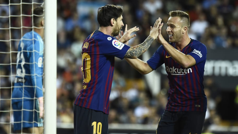 Image result for Arthur Melo with Lionel Messi