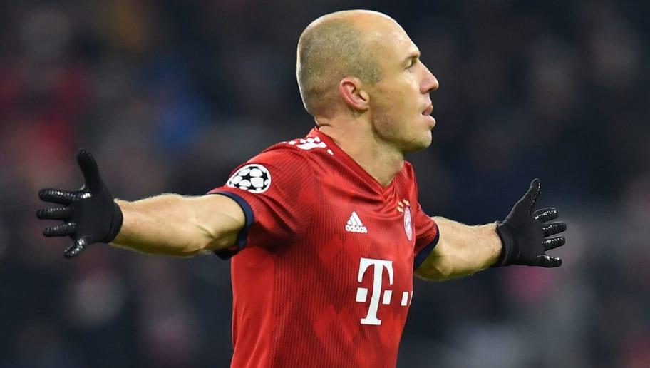 db524a729 Bayern Munich s Dutch midfielder Arjen Robben celebrates scoring the 2-0  goal during the UEFA