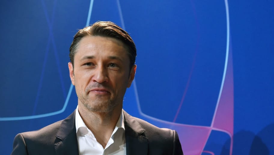 Bayern Munich's Croatian head coach Niko Kovac leaves the press conference on the eve of the UEFA Champions League Group E football match Bayern Munich vs Benfica Lisbon at the stadium in Munich, southern Germany, on November 26, 2018. (Photo by Christof STACHE / AFP)        (Photo credit should read CHRISTOF STACHE/AFP/Getty Images)