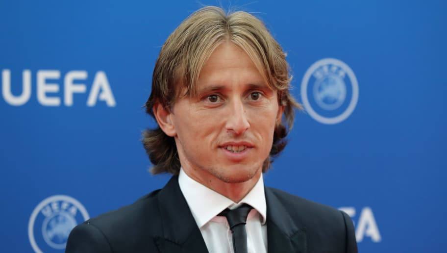 Real Madrid's midfielder Luka Modric arrives to attend the draw for UEFA Champions League football tournament at The Grimaldi Forum in Monaco on August 30, 2018. (Photo by Valery HACHE / AFP)        (Photo credit should read VALERY HACHE/AFP/Getty Images)