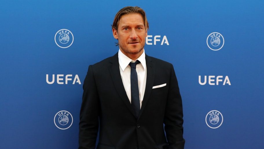 Italian former football player Francesco Totti arrives to attend the draw for UEFA Champions League football tournament at The Grimaldi Forum in Monaco on August 30, 2018. (Photo by Valery HACHE / AFP)        (Photo credit should read VALERY HACHE/AFP/Getty Images)