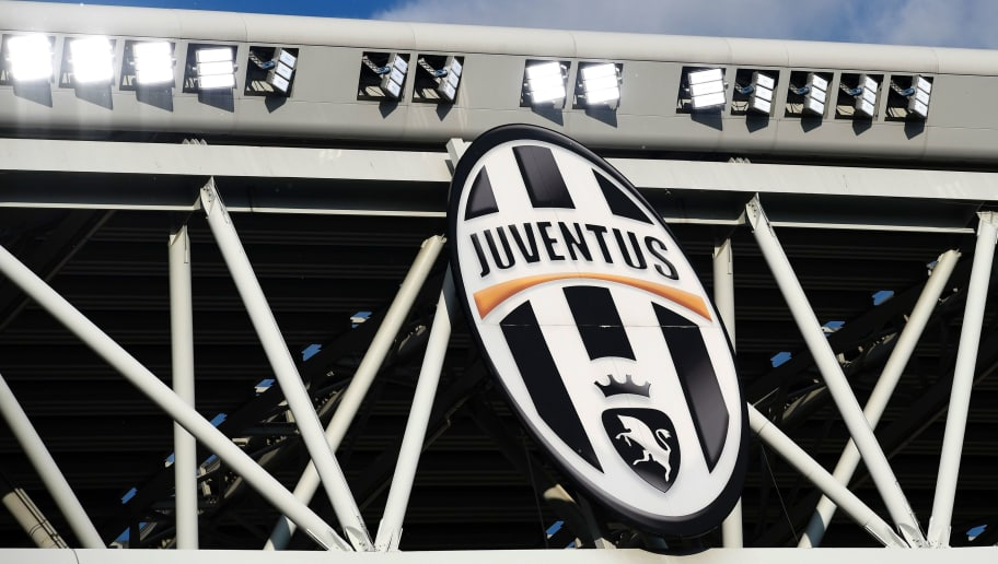 A picture shows the logo of the Juventus football club before the UEFA Champions League semi final second leg football match Juventus vs Monaco, on May 9, 2017 at the Juventus stadium in Turin.  / AFP PHOTO / MIGUEL MEDINA        (Photo credit should read MIGUEL MEDINA/AFP/Getty Images)