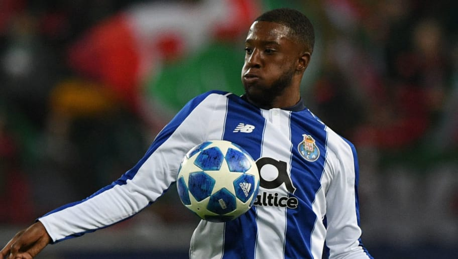 Porto's Dutch midfielder Riechedly Bazoer during the UEFA Champions League group D football match between FC Lokomotiv Moscow and FC Porto in Moscow on October 24, 2018. (Photo by Kirill KUDRYAVTSEV / AFP)        (Photo credit should read KIRILL KUDRYAVTSEV/AFP/Getty Images)