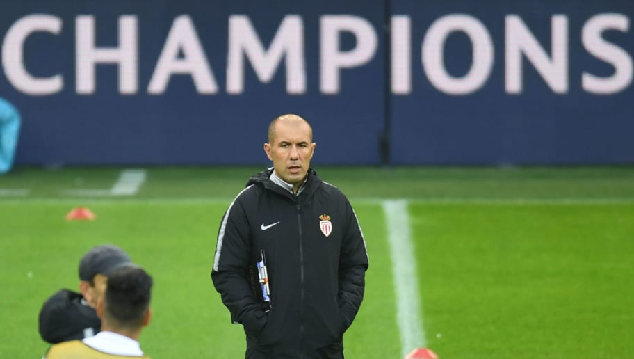Monaco's Portuguese coach Leonardo Jardim talks looks on during a training session on the eve of the UEFA Champions League group A football match Borussia Dortmund against AS Monaco in Dortmund, western Germany on October 2, 2018. (Photo by Patrik STOLLARZ / AFP)        (Photo credit should read PATRIK STOLLARZ/AFP/Getty Images)