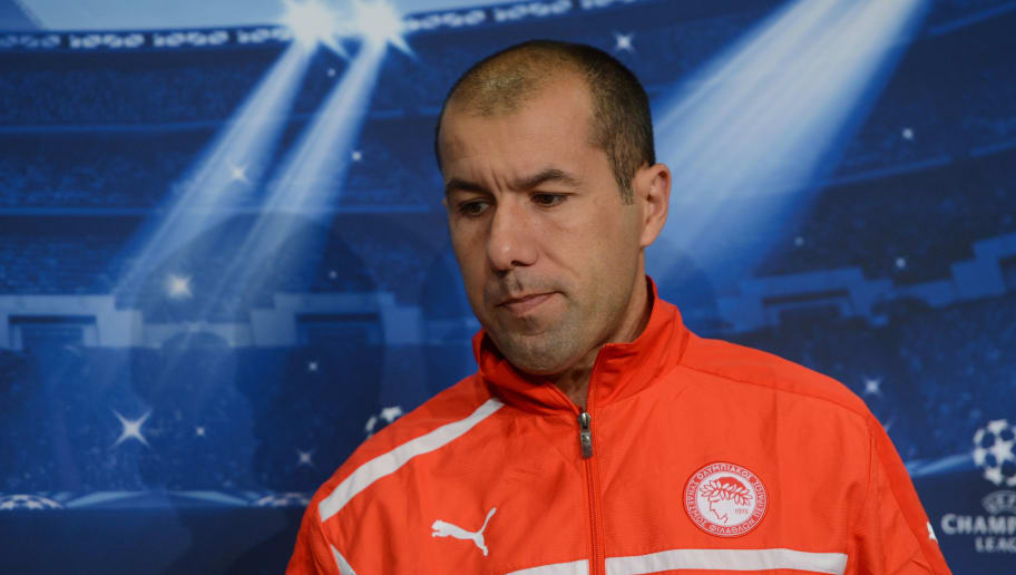 Olympiacos' Portuguese head coach Leonardo Jardim attends a press conference in Gelsenkirchen, western Germany, on November 20, 2012, on the eve of the UEFA Champions League football match against FC Schalke 04.  AFP PHOTO / PATRIK STOLLARZ        (Photo credit should read PATRIK STOLLARZ/AFP/Getty Images)