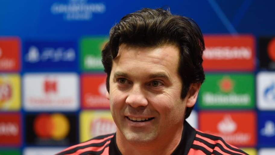 Real Madrid's Argentinian coach Santiago Solari addresses a press conference on the eve of the UEFA Champions League group G football match Viktoria Plzen v Real Madrid in Plzen, Czech Republic on November 6, 2018. (Photo by Michal CIZEK / AFP)        (Photo credit should read MICHAL CIZEK/AFP/Getty Images)