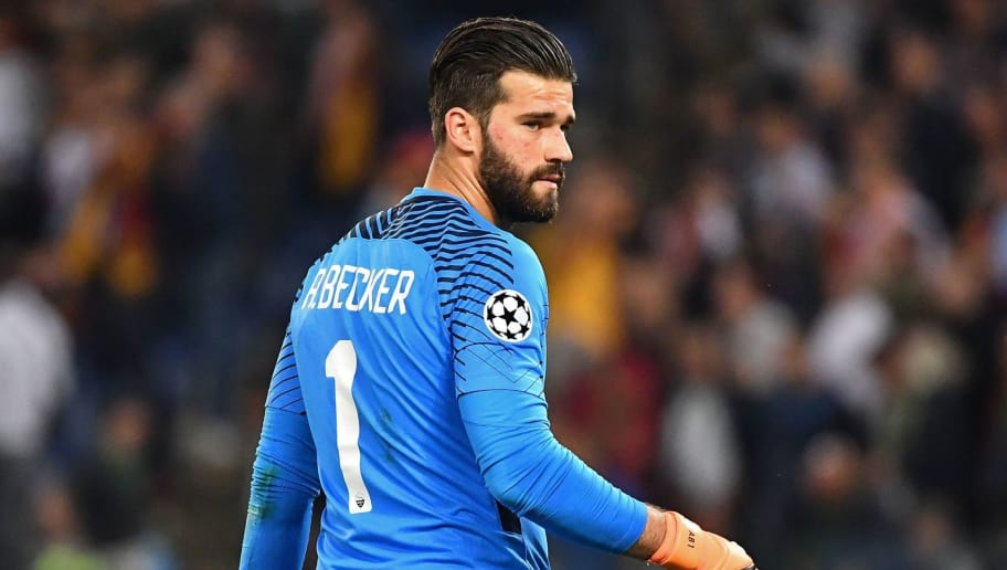 Roma's Brazilian goalkeeper Alisson looks on after being defeated by Liverpool at the end of the UEFA Champions League semi-final second leg football match AS Roma vs Liverpool FC at the Stadio Olimpico in Rome on May 2, 2018. (Photo by Alberto PIZZOLI / AFP)        (Photo credit should read ALBERTO PIZZOLI/AFP/Getty Images)