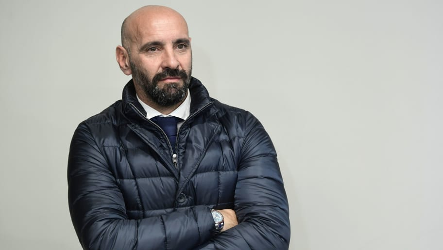 Roma sporting director Monchi listens during a press conference at the Wanda Metropolitan stadium in Madrid on November 21, 2017 on the eve of the UEFA Champions League group C football match between Club Atletico de Madrid  and AS Roma. / AFP PHOTO / JAVIER SORIANO        (Photo credit should read JAVIER SORIANO/AFP/Getty Images)