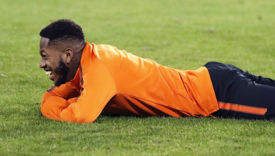 Shakhtar's Brazilian midfielder Fred reacts  during a training session on the eve of the UEFA Champions League Group F football match SSC Napoli vs FC Shakhtar Donetsk at the San Paolo Stadium on November 20, 2017. / AFP PHOTO / CARLO HERMANN        (Photo credit should read CARLO HERMANN/AFP/Getty Images)