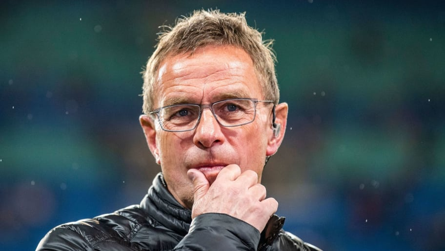 Leipzig´s head coach Ralf Rangnick looks on prior the UEFA Europa League Group B football match between RB Leipzig and Celtic in Leipzig, eastern Germany on October 25, 2018. (Photo by ROBERT MICHAEL / AFP)        (Photo credit should read ROBERT MICHAEL/AFP/Getty Images)