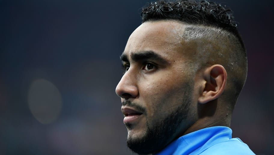 Marseille's French forward Dimitri Payet warms up prior to the UEFA Europa League final football match between Olympique de Marseille and Club Atletico de Madrid at the Parc OL stadium in Decines-Charpieu, near Lyon on May 16, 2018. (Photo by JEFF PACHOUD / AFP)        (Photo credit should read JEFF PACHOUD/AFP/Getty Images)