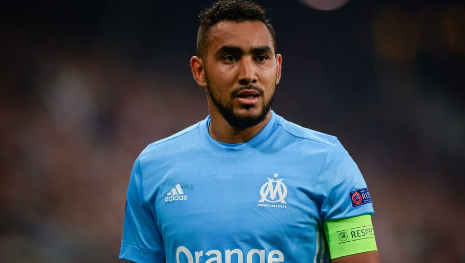 Marseille's French forward Dimitri Payet reacts during the UEFA Europa League semi-final second leg match between FC Salzburg and Olympique de Marseille (OM) on May 3, 2018 in Salzburg, Austria. (Photo by VLADIMIR SIMICEK / AFP)        (Photo credit should read VLADIMIR SIMICEK/AFP/Getty Images)