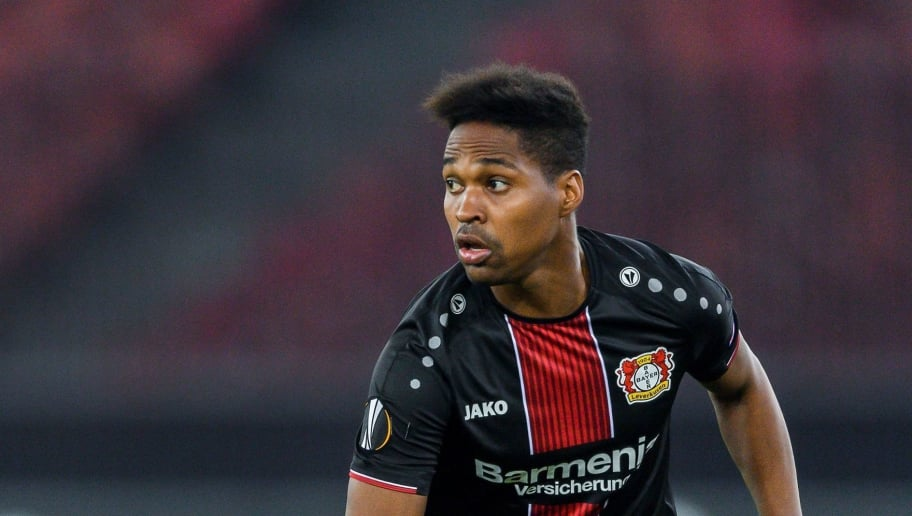 Bayer Leverkusen's Brazilian defender Wendell controls the ball during the UEFA Europa League group A football match between FC Zurich and Bayer Leverkusen at The Letzigrund Stadium in Zurich on October 25, 2018. (Photo by Fabrice COFFRINI / AFP)        (Photo credit should read FABRICE COFFRINI/AFP/Getty Images)