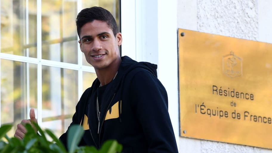 French defender Raphael Varane arrives at France's national football team training base in Clairefontaine en Yvelines on October 8, 2018, for the team's preparation ahead of the upcoming friendly match against Iceland and the Nations League match against Germany. (Photo by FRANCK FIFE / AFP)        (Photo credit should read FRANCK FIFE/AFP/Getty Images)