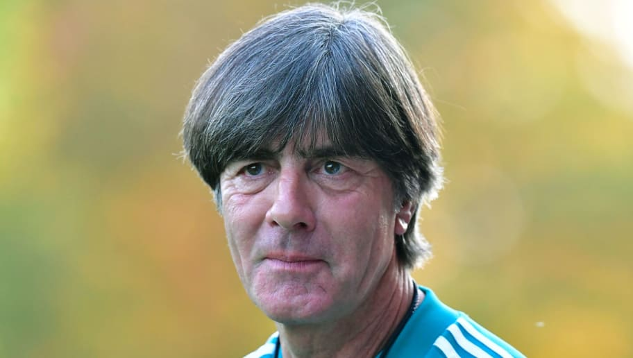 Germany's head coach Joachim Loew attends a training session of the German national football team on October 9, 2018 in Berlin, ahead of a Nations League match against the Netherlands to take place on October 13, 2018 in Amsterdam. (Photo by Tobias SCHWARZ / AFP)        (Photo credit should read TOBIAS SCHWARZ/AFP/Getty Images)