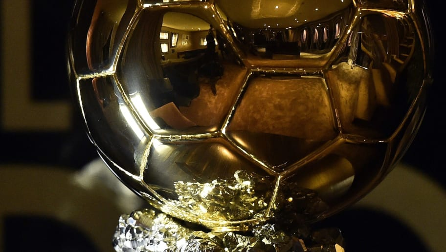 A picture taken on December 15, 2014 shows the Ballon d'Or 2014 trophy displayed at the Mellerio jewelery workshops in Paris. Barcelona's Argentinian forward Lionel Messi, Bayern Munich's Gemany's goalkeeper Manuel Neuer and Real Madrid's Portuguese forward Cristiano Ronaldo were shortlisted for this year's Fifa Ballon d'Or, an association football award given annually to the male player who is considered to have performed the best in the previous year. It is awarded by world governing body FIFA after votes from coaches and captains of international teams, as well as journalists from around the world. AFP PHOTO / FRANCK FIFE        (Photo credit should read FRANCK FIFE/AFP/Getty Images)