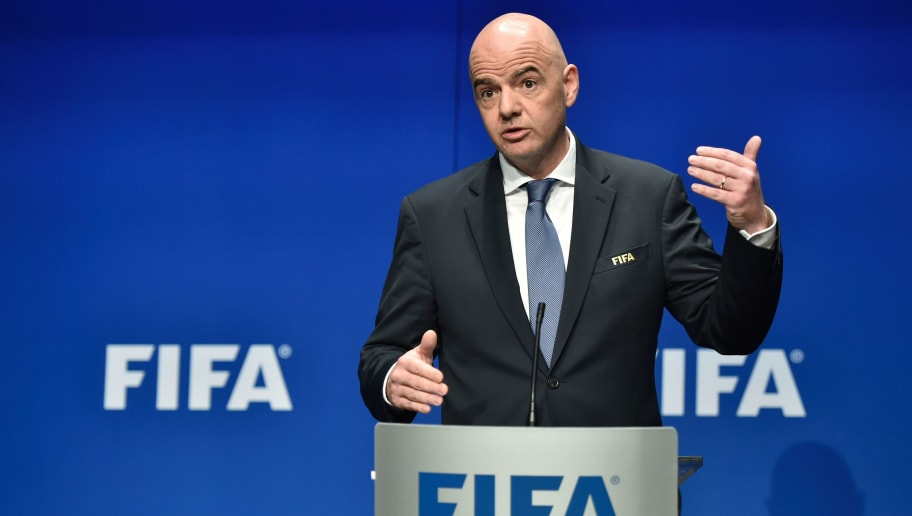 International Federation of Association Football (FIFA) President Gianni Infantino speaks during a press briefing closing a meeting of the FIFA executive council on January 10, 2017 at FIFA headquarters in Zurich.  FIFA's ruling council on January 10, 2017 unanimously approved an expansion of the World Cup from 32 to 48 teams in 2026.  / AFP / Michael BUHOLZER        (Photo credit should read MICHAEL BUHOLZER/AFP/Getty Images)