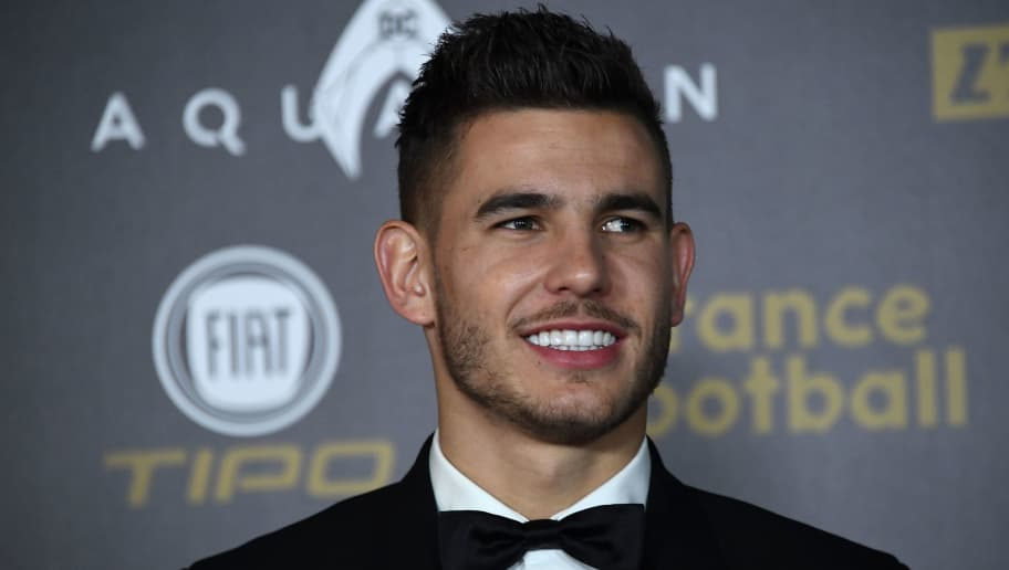 Atletico Madrid's French defender Lucas Hernandez poses upon arrival at the 2018 Ballon d'Or award ceremony at the Grand Palais in Paris on December 3, 2018. (Photo by Anne-Christine POUJOULAT / AFP)        (Photo credit should read ANNE-CHRISTINE POUJOULAT/AFP/Getty Images)