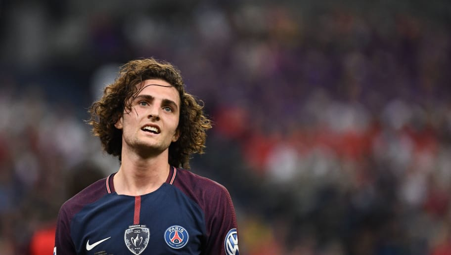 Paris Saint-Germain's French midfielder Adrien Rabiot is pictured during the French Cup final football match between Les Herbiers and Paris Saint-Germain (PSG), on May 8, 2018 at the Stade de France in Saint-Denis, outside Paris. (Photo by FRANCK FIFE / AFP)        (Photo credit should read FRANCK FIFE/AFP/Getty Images)