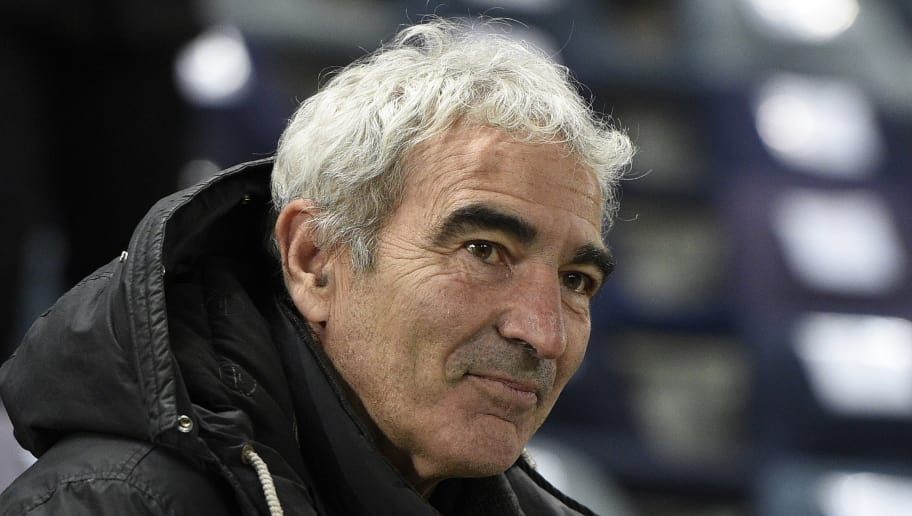 French former coach Raymond Domenech attends the French Cup match Red Star vs AS Saint-Etienne (ASSE) at the Jean Bouin stadium in Paris on February 10, 2015. Saint-Etienne won 2-1. AFP PHOTO / FRANCK FIFE        (Photo credit should read FRANCK FIFE/AFP/Getty Images)
