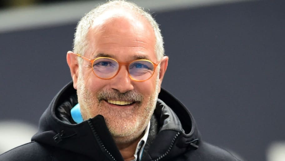 Olympique de Marseille's sportive manager Andoni Zubizarreta looks on  prior to the French L1 football match between Bordeaux and Marseille on November 19, 2017 at the Matmut Atlantique stadium in Bordeaux, southwestern France.  / AFP PHOTO / NICOLAS TUCAT        (Photo credit should read NICOLAS TUCAT/AFP/Getty Images)