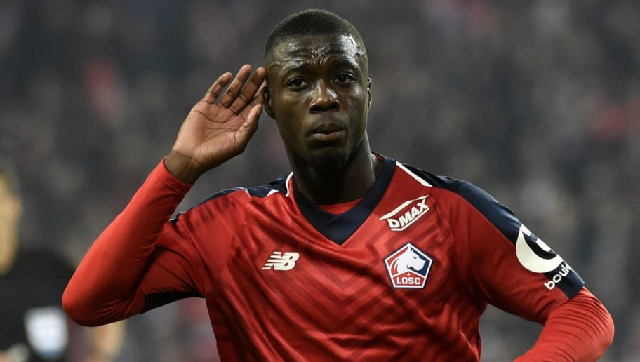 online retailer bfc55 55d33 Nicolas Pepe Seen in Arsenal Kit for First Time in Leaked ...
