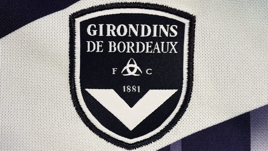 A photo taken on August 6, 2015 in Paris, shows a partial view of the new jersey of the Bordeaux (GBFC) football team. AFP PHOTO / FRANCK FIFE / AFP / FRANCK FIFE        (Photo credit should read FRANCK FIFE/AFP/Getty Images)