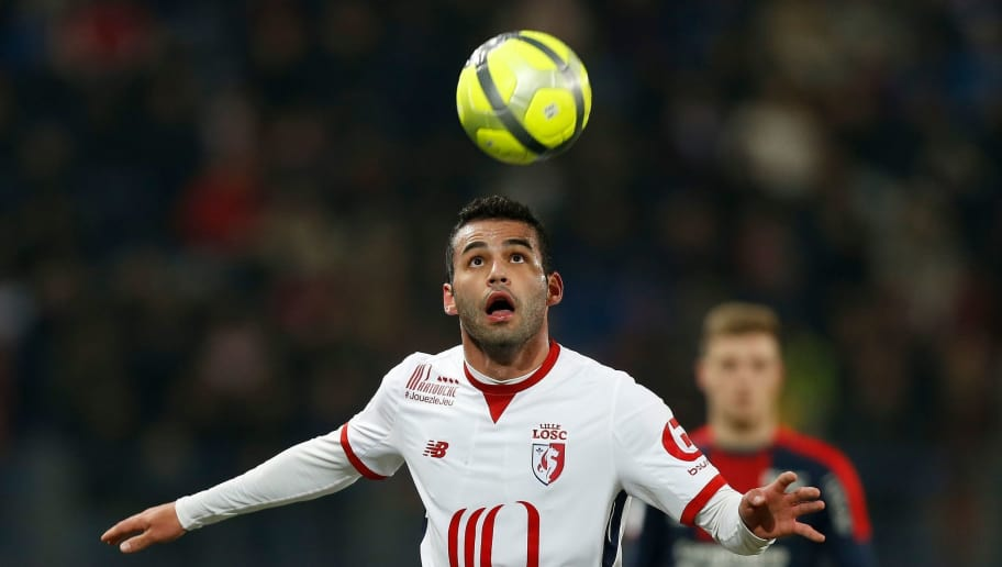 Lille's Brazilian midfielder Thiago Maia Alencar controls the ball during the French L1 football match between Caen (SMC) and Lille (LOSC) on January 13, 2018, at Michel d'Ornano stadium, in Caen, northwestern France. / AFP PHOTO / CHARLY TRIBALLEAU        (Photo credit should read CHARLY TRIBALLEAU/AFP/Getty Images)
