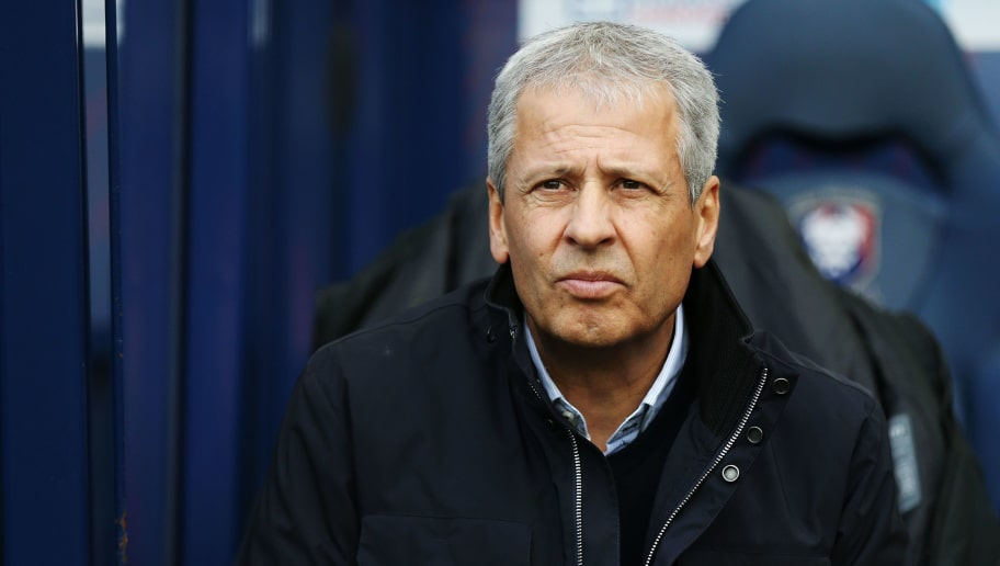 Nice's Swiss head coach Lucien Favre lookson prior to the French L1 football match between Caen (SMC) and Nice (OGCN) on November 19, 2017 at the Michel-d'Ornano stadium in Caen, northwestern France.  / AFP PHOTO / CHARLY TRIBALLEAU        (Photo credit should read CHARLY TRIBALLEAU/AFP/Getty Images)