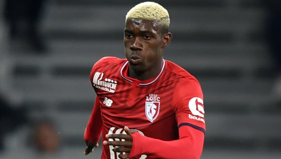 Lille's Malian midfielder Yves Bissouma controls the ball during the French L1 football match between Lille OSC (LOSC) and Bordeaux at the Pierre-Mauroy Stadium in Villeneuve d'Ascq, near Lille, northern France, on September 8, 2017. / AFP PHOTO / DENIS CHARLET        (Photo credit should read DENIS CHARLET/AFP/Getty Images)