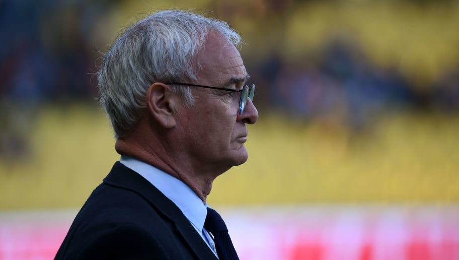 Nantes' Italian head coach Claudio Ranieri looks on at the start of the French L1 football match between RC Strasbourg Alsace and Nantes FC at La Baujoire Stadium, in Nantes, western France on May 19, 2018. (Photo by GUILLAUME SOUVANT / AFP)        (Photo credit should read GUILLAUME SOUVANT/AFP/Getty Images)