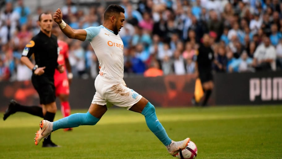 Marseille's French midfielder Dimitri Payet controls the ball during the French L 1 football match between Marseille (OM) and Caen at The Velodrome Stadium in Marseille, southern France on October 07, 2018. - Dimitri Payet, will replaces France's injured Nabil Fekir who is suffering from a sprained left ankle, in forthcoming international matches the French Football Federation (FFF) announced on October 8, 2018, on its social network platforms. (Photo by Christophe SIMON / AFP)        (Photo credit should read CHRISTOPHE SIMON/AFP/Getty Images)