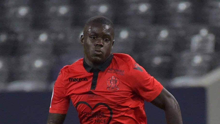 Nice's French defender Malang Sarr controls the ball during the French L1 football match betwen Toulouse and Nice at the Municipal Stadium in Toulouse, southern France on October 5, 2018. (Photo by PASCAL PAVANI / AFP)        (Photo credit should read PASCAL PAVANI/AFP/Getty Images)