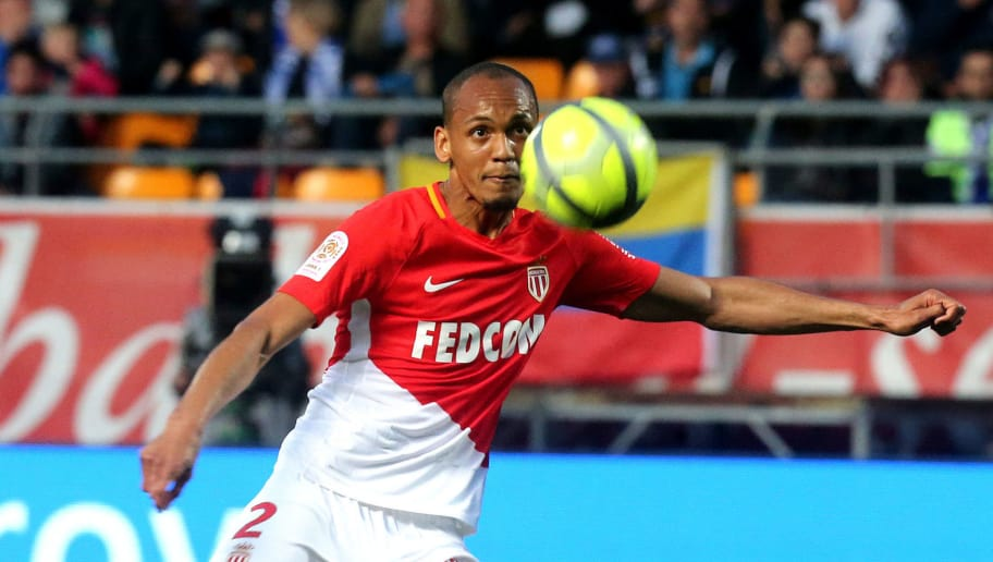 Monaco's Brazilian defender Fabinho shoots the ball during the French L1 football match between Troyes and Monaco on May 19, 2018, at the Aube Stadium in Troyes. (Photo by FRANCOIS NASCIMBENI / AFP)        (Photo credit should read FRANCOIS NASCIMBENI/AFP/Getty Images)