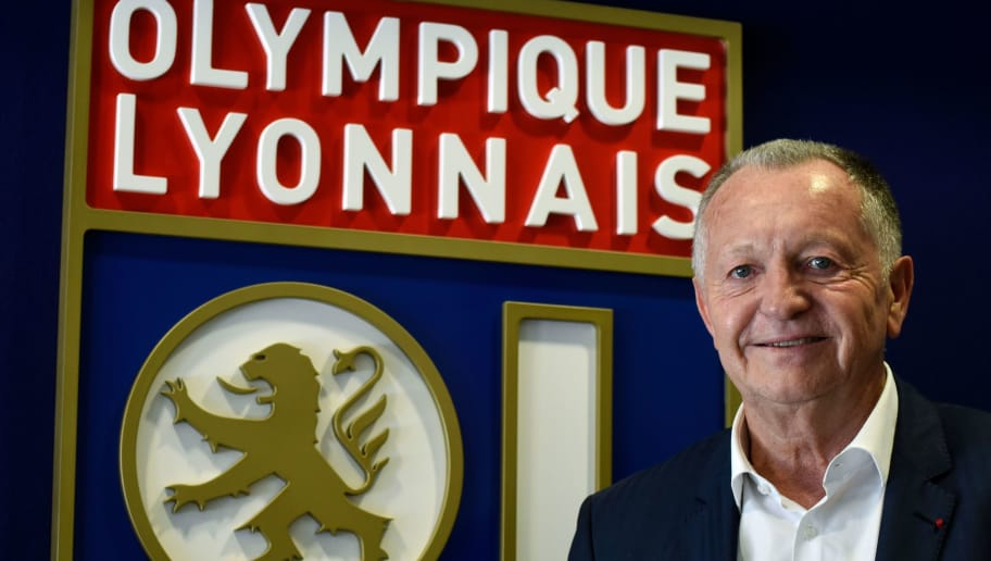 Lyon football club (OL ) president Jean-Michel Aulas poses on the occasion of the 30th anniversary of his presidency at the OL on June 29, 2017 at the Parc Olympique Lyonnais in Lyon, eastern France.  / AFP PHOTO / JEAN-PHILIPPE KSIAZEK        (Photo credit should read JEAN-PHILIPPE KSIAZEK/AFP/Getty Images)