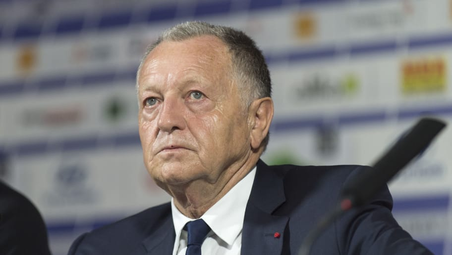 Lyon's French president Jean-Michel Aulas attends a press conference on June 16, 2017 at the Parc Olympique Lyonnais in Lyon, eastern France. / AFP PHOTO / ROMAIN LAFABREGUE        (Photo credit should read ROMAIN LAFABREGUE/AFP/Getty Images)
